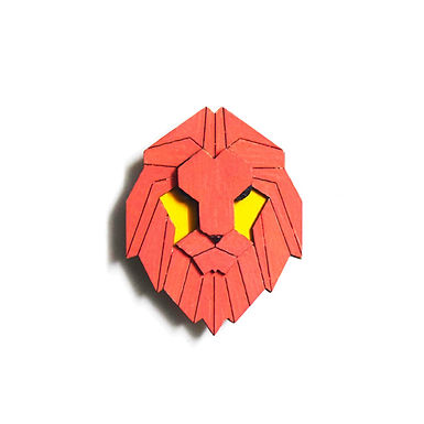 Red Lion Badge Magnet 6