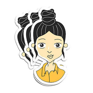 Urban Girl Vinyl Sticker 2 (Pack of 3)