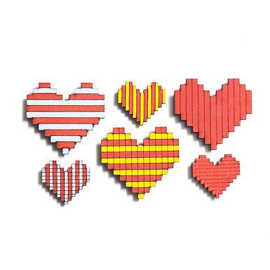 Heart Badge Magnets Combo 1