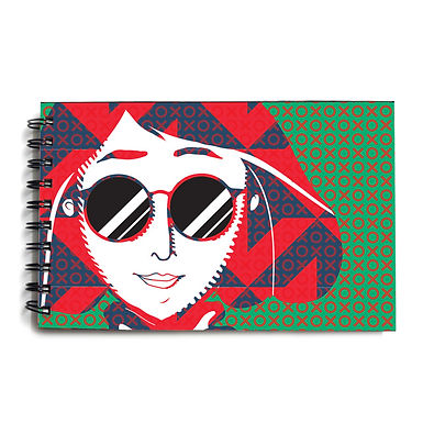 Urban Girl Red & Green Hardbound Sketchbook 3