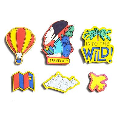 Traveller Badge Magnets Combo 2