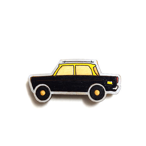 Mumbai Taxi Badge Magnet 5