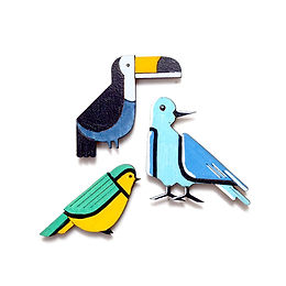 Bird Badge Magnets Combo 2