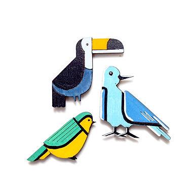 Bird Badge Magnets Combo 2