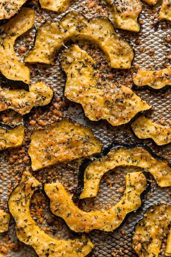 Herb Roasted Parmesan Acorn Squash