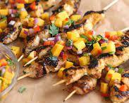 Grilled Mango Chicken Skewers
