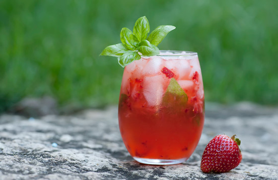 Strawberry Basil Margarita Summer Cocktail