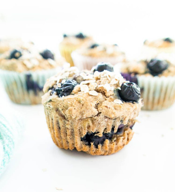 Gluten-Free Blueberry Banana Power Muffins