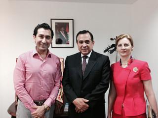 Head of PGI met with H.E Mr. Elard Escala Ambassador of Peru in Japan