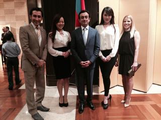 Azerbaijan National Day reception at Okura Hotel, Tokyo.