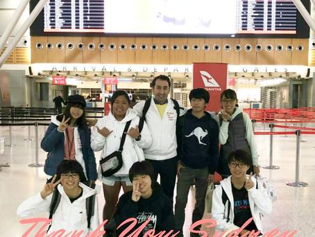 シドニーに留学しておりました生徒が無事に日本に帰国しました