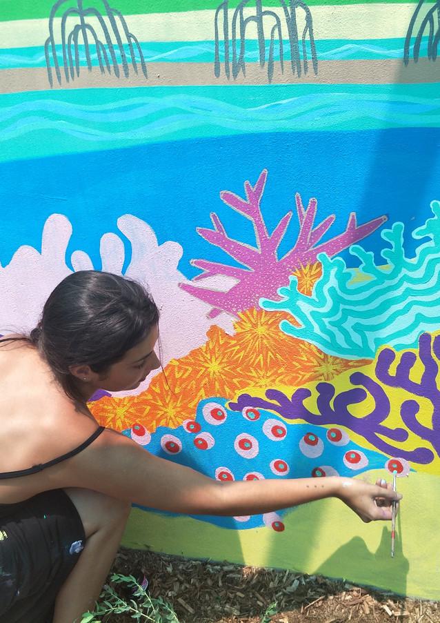 Reef and Island Garden Mural
