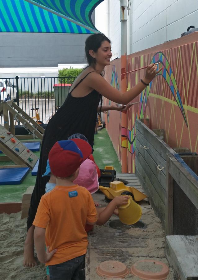 The Rainbow Serpent Mural