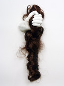 2014 Synthetic hair, plaster