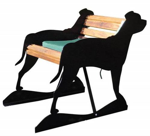 Staffordshire Bull Terrier Garden Bench