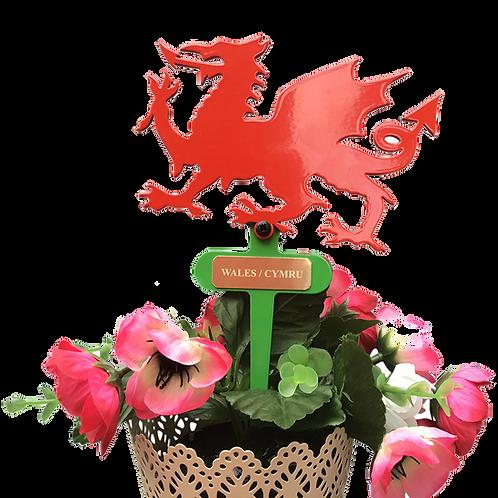 Welsh Dragon Flowerpot Stake