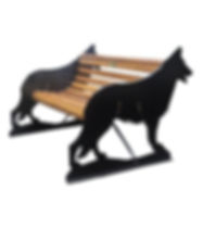 German Shepherd Bench