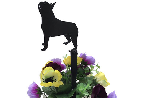 Boston Terrier Flowerpot Stake