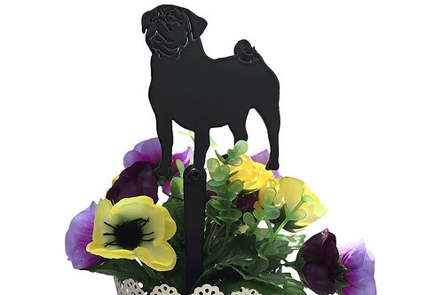 Pug Flowerpot Stake