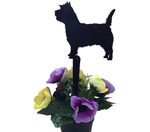 Cairn Terrier Flowerpot Stake