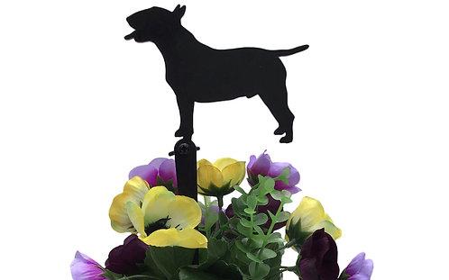 English Bull Terrier Flowerpot Stake