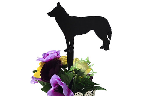 Siberian Husky Flowerpot Stake