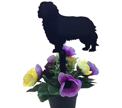Cavalier King Charles Spaniel Flowerpot Stake