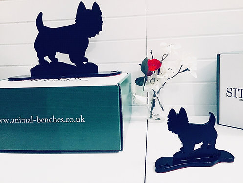 West Highland Terrier Silhouette Ornament