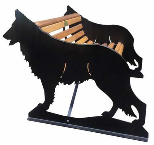 German Shepherd Garden Bench