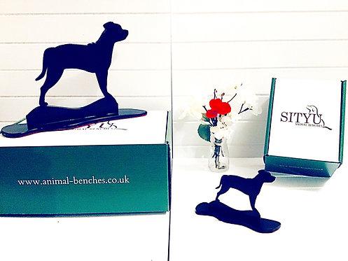 Staffordshire Bull Terrier Silhouette Ornament