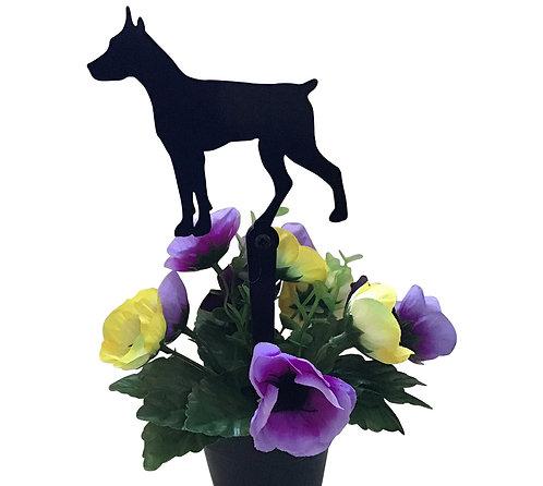 Doberman Flowerpot Stake