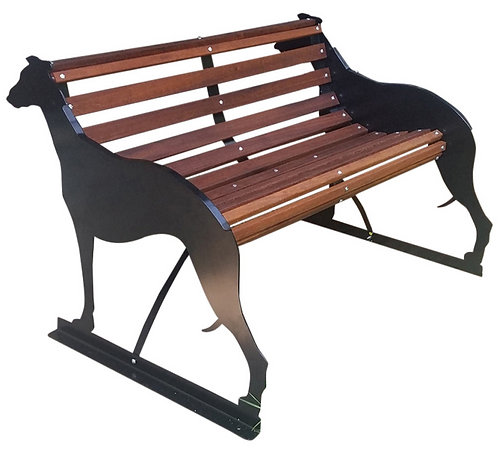Greyhound Themed Garden Bench Seat