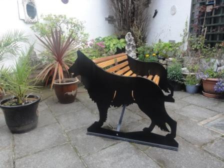 German Shepherd Bench