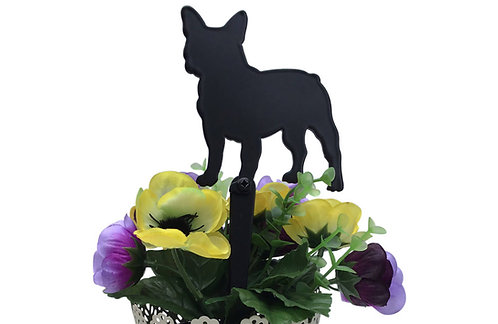 French Bulldog Flowerpot Stake
