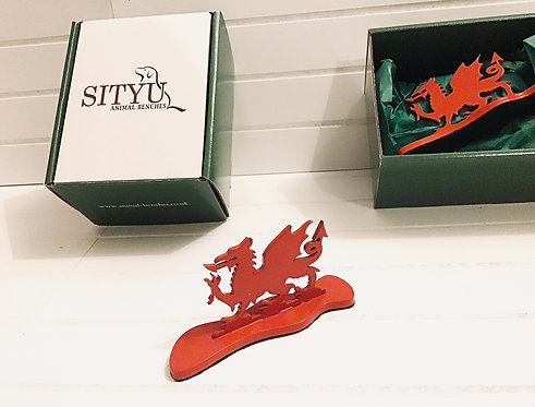 Red Welsh Dragon Silhouette