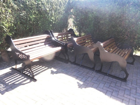 Benches ready for delivery