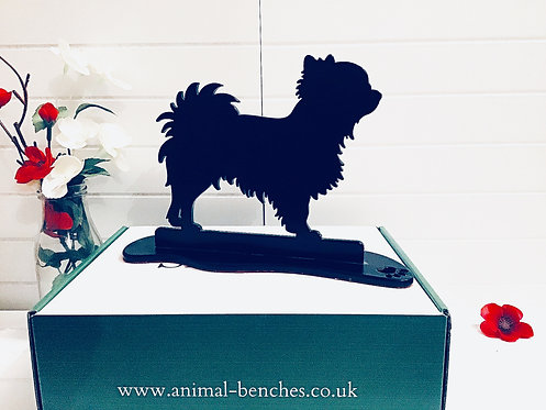 Long Haired Chihuahua Silhouette Ornament