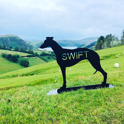 Greyhound Themed Silhouette Statue
