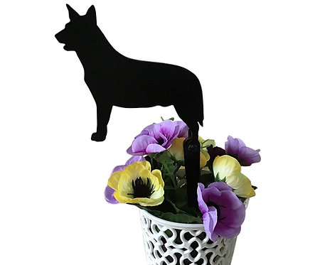 Australian Cattle Dog Flowerpot Stake