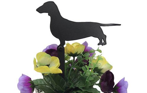 Dachshund Flowerpot Stake