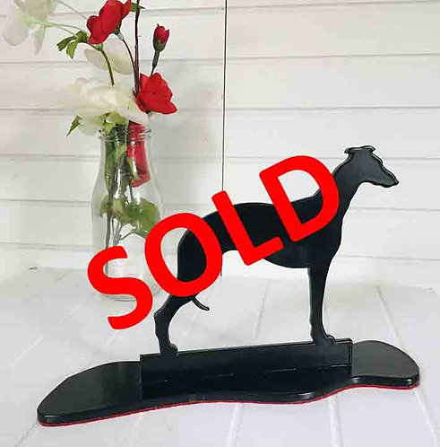 Whippet Silhouette Ornament