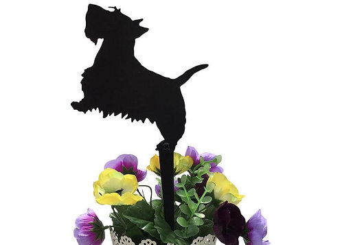 Scottish Terrier Flowerpot Stake