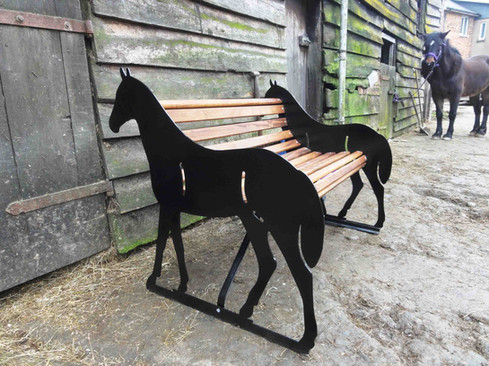 Horse Bench At Stables