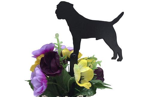 Border Terrier Flowerpot Stake