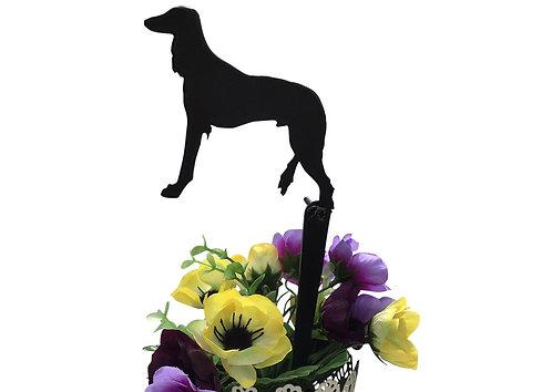 Saluki Flowerpot Stake