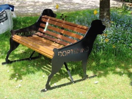Rottweiler Bench With Kennel Name