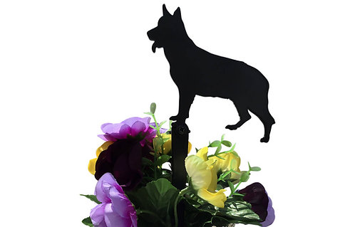 German Shepherd Flowerpot Stake