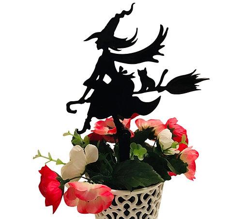 Witch Flowerpot Stake