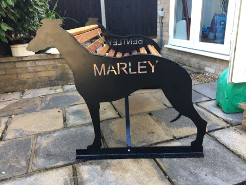 "Greyhound ""Marley"" Bench"