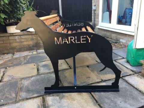 "Greyhound ""Marley"" Bench"